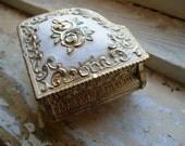 Jewelry Box - Vintage Shabby Chic Piano Trinket Holder