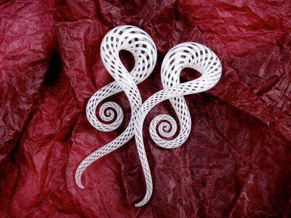 "1/2"" - White Fishnet - Squids (Full Size)"