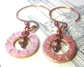 Sale at Simply Mine, Copper Dreams Earrings