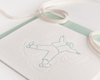 Snow Angel Letterpress Cards (Boxed set of 6 cards)