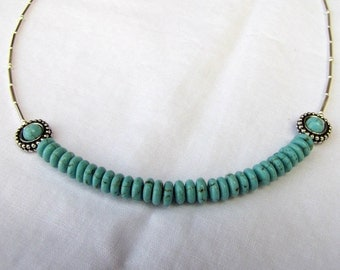 """Turquoise """"half"""" necklace"""
