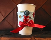 Coffee Corset (a handmade quilted cuff) - Walk the Dog