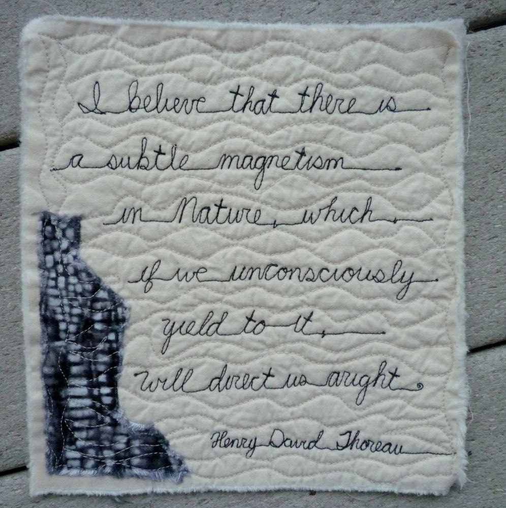 Quilted Quote By Henry David Thoreau Poetry Quilt Cotton