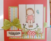 Thanks or Thinking of You Greeting Card---Handmade