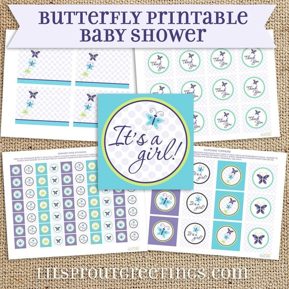 Butterfly Baby Shower Collection - reserved for Kim