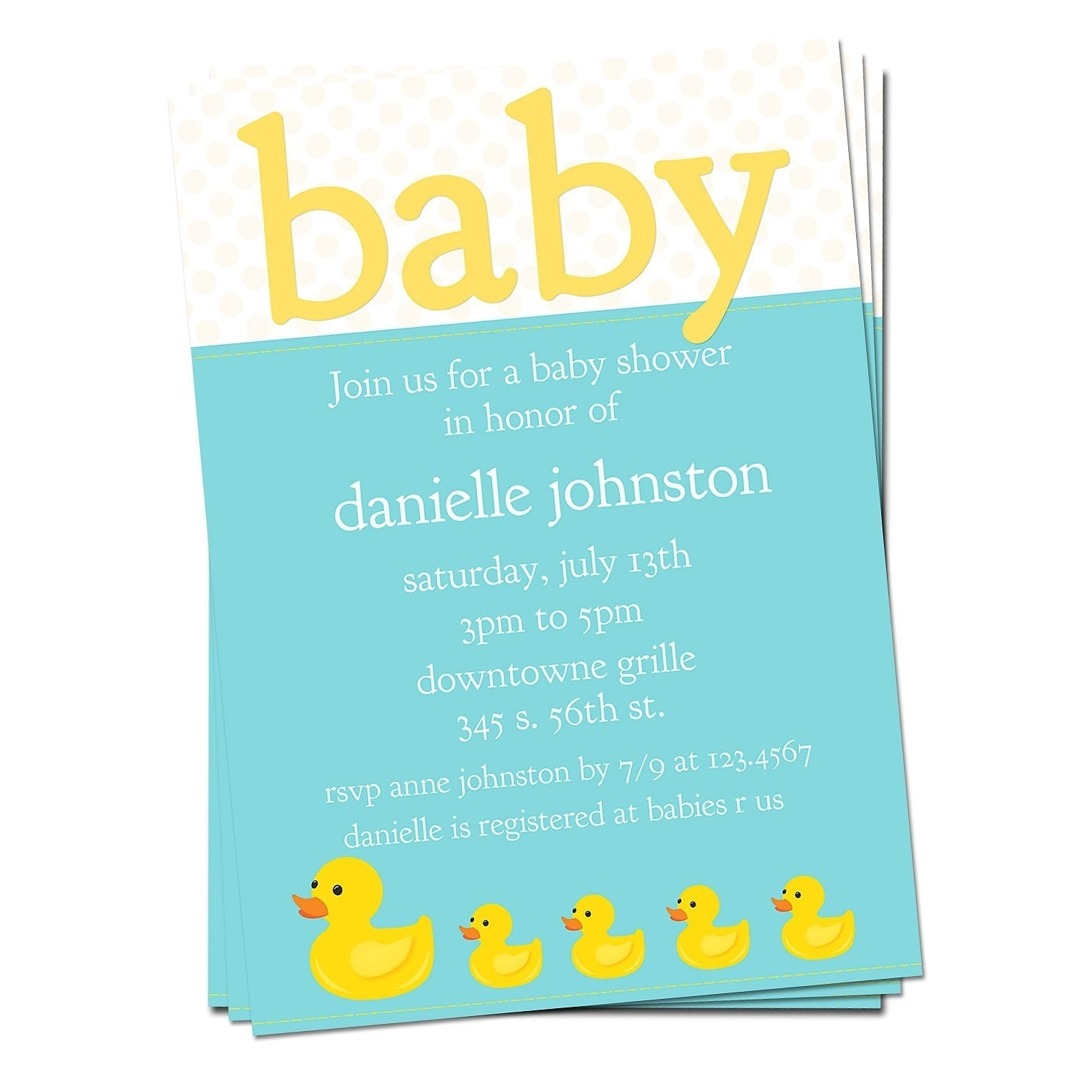 rubber ducky baby shower invitation by lilsproutgreetings on etsy