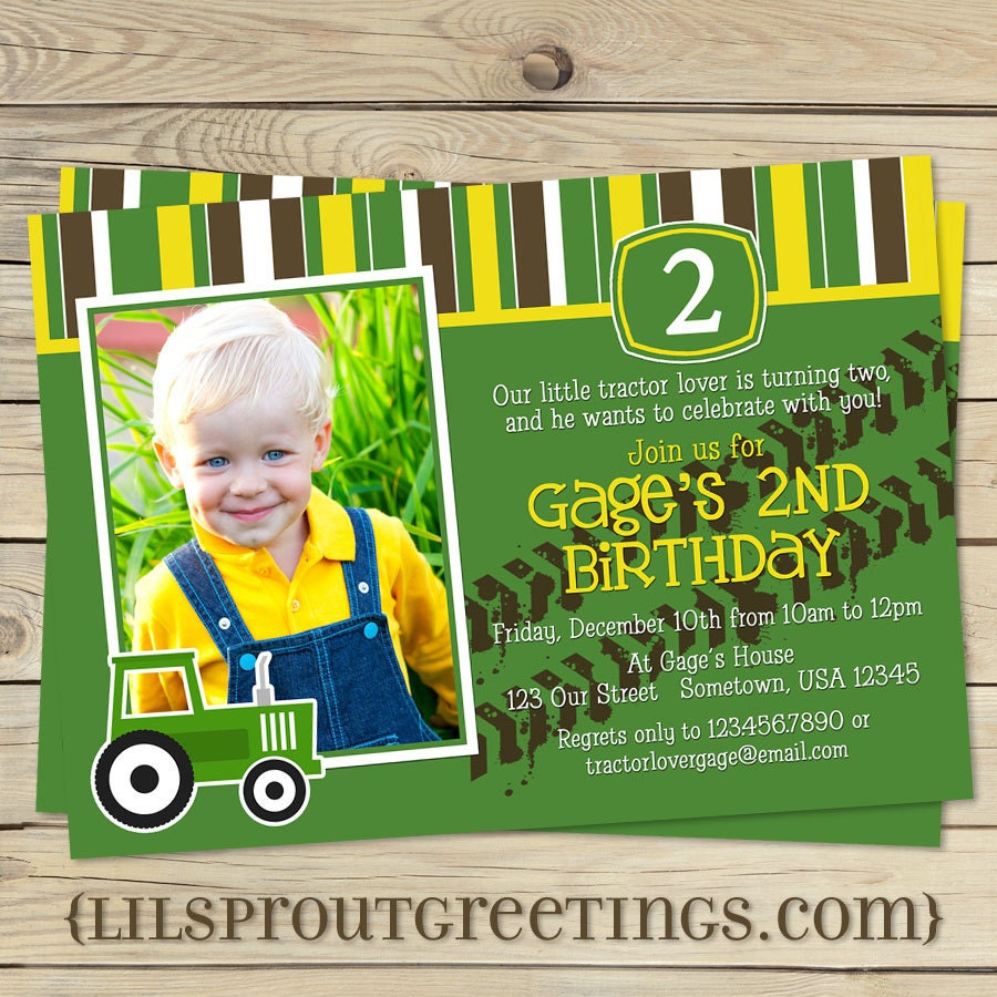 ... » Birthday Invitation » john deere birthday invitations templates