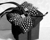 Spotted - A Fun Vintage Style Black Bridesmaid Eveing Box Bag Purse