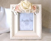 Floral Picture Frame......Pink and Cream