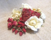 Holiday Inspiration.....Floral Assortment Red and Cream........No.1