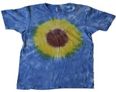 Tie-dyed Sunflower Adult T-shirt