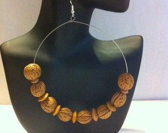 African Inspired hoop Earrings,,,