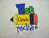 Coustom Boutique 1 st Grade Rocks Applique Shirt - Can also do 2nd, 3rd and 4th grade