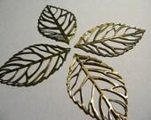 15 Bronze Leaf Filigree