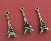 5 pcs 23mm Antique Silver Eiffel Tower Charm Pendant