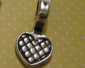 Heart Bails 50 Small Antique Silver Lead and Nickel Free -Ships within 24 hours