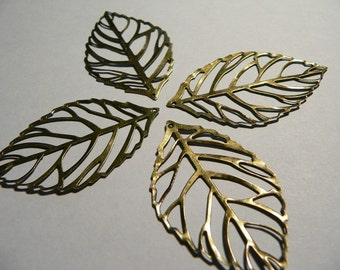 15 Bronze Leaf Filigree
