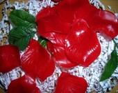 PIF   Red Rose Petal Soaps