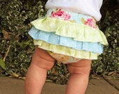 PDF Sewing Pattern Fancy Ruffled DIAPER COVER  - Ruffle Back Bloomers Baby sewing pattern