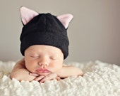 Baby Hat Pattern - Bunny Cow Cat Bear Devil Horns - Baby Hat Sewing Pattern PDF