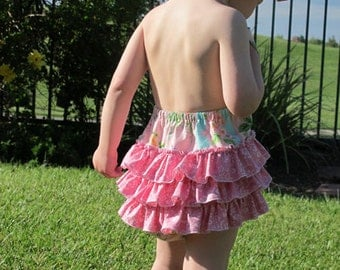Baby Bubble Romper PDF Pattern Ruffled Sunsuit Sewing Pattern PDF