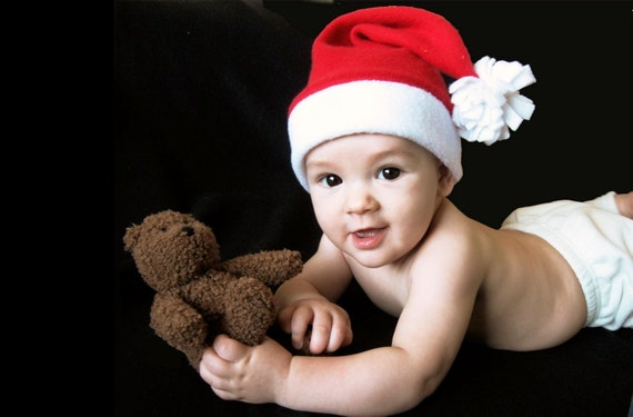 How to make fun fleece santa hats for infants and by