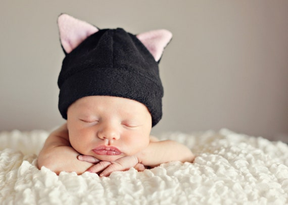 Baby Hat Pattern Bunny Cow Cat Bear Devil Horns Baby Hat