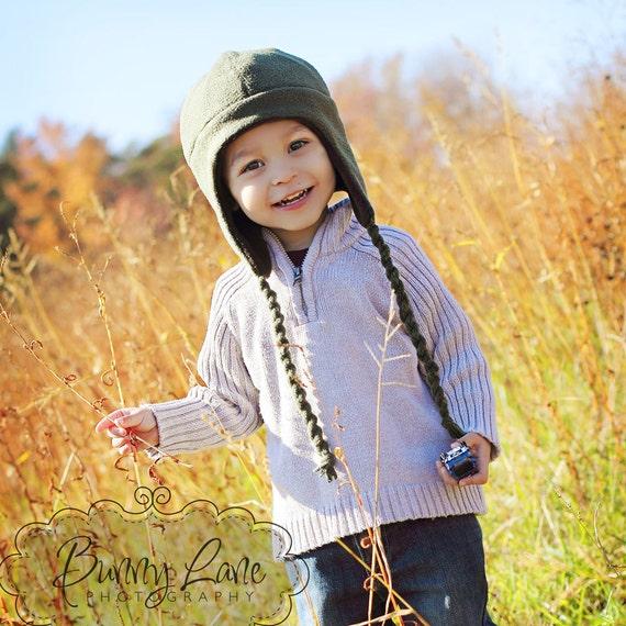 Fleece Hat Pattern - Boys, Girls - Fleece Earflap Hats sewing pattern newborn - teen - PDF