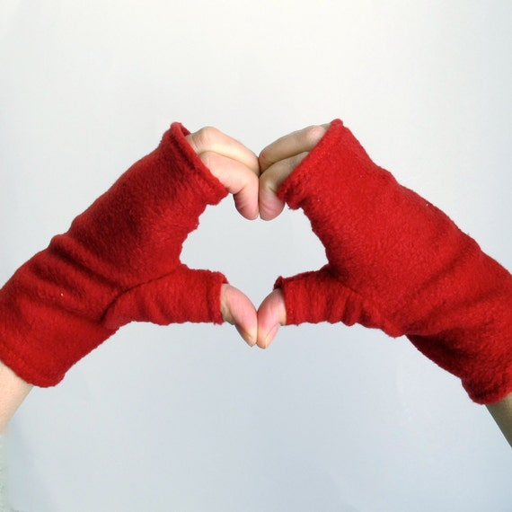 Convertible Mittens Sewing Pattern - Fingerless Fleece Gloves or Mittens - PDF