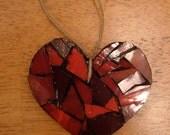 Heart Glass Mosaic Ornament