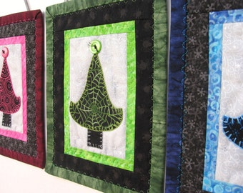 Green and Black Tree Quilt