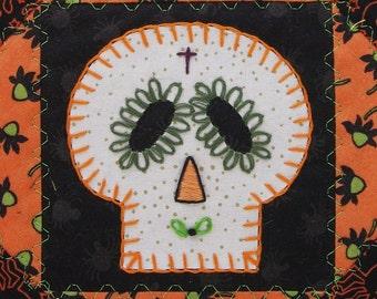 Sugar Skull Quilt, Halloween