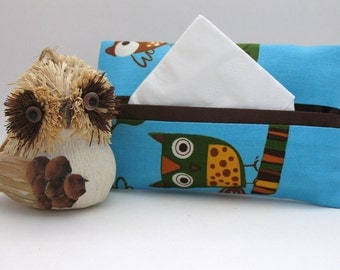 Blue Owl Tissue Holder