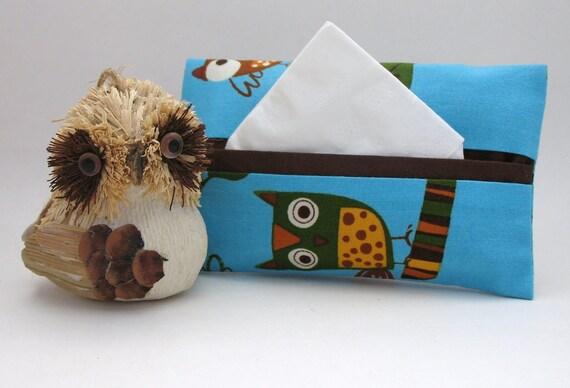 Blue Owl Tissue Holder
