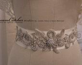 Sonia-Ann Victorian Crystal Sash/ wedding gown belt - CC0024