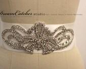 Elizabeth Wedding Accessories, , Wedding sash, Bridal belt, Wedding sash, Crystal rhinestone beaded bridal sash, Bridal Accessories