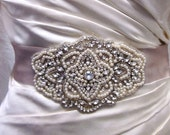 Claire Pearl and Crystal High Fashion inspired bridal sash