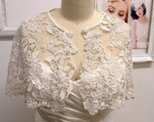 Gilda Romantic Bridal  bolero/ cape,made of vintage like lace