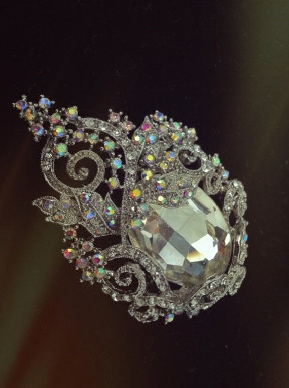 Michaela one of a kind find, crystal brooch