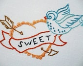 Embroidery Pattern PDF - Sweet Swallow Tattoo