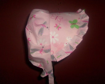 Sunbonnet Pink Toddler Dragonfly and Butterfly 9-24 months - LIMITED 11USD