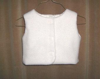 Vest Baby White Fleece Vest 6 months