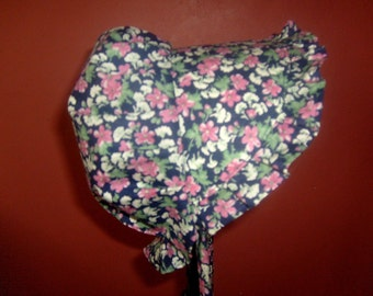 Sunbonnet Baby Navy Pink Clover 3 to 15 months 11USD