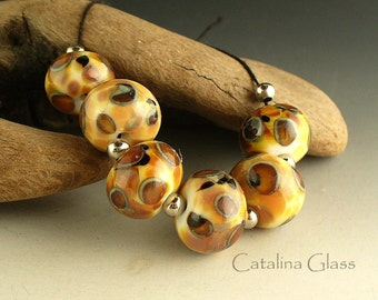 Lampwork Beads by Catalina Glass SRA 6 Tawny Jungle Cat