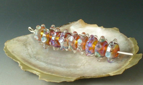 Lampwork Glass Beads  SRA Clio Sparklers by Catalina Glass