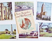 Los Angeles & Hollywood in COLOR - 1945 - Vintage Souvenir Folio