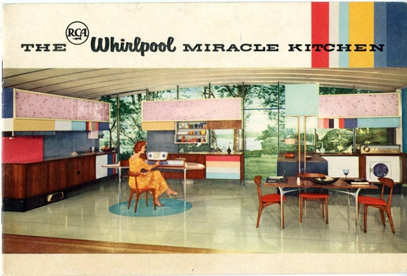 Rca Whirlpool Miracle Kitchen 1957 18 Page Brochure Vintage