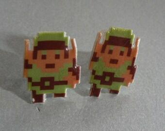 hyrule hero - legend of zelda link earrings