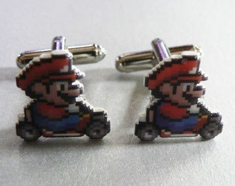 speed racer - mario kart cufflinks
