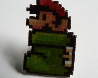 there once was a plumber who lived in a shoe - super mario 3 pin